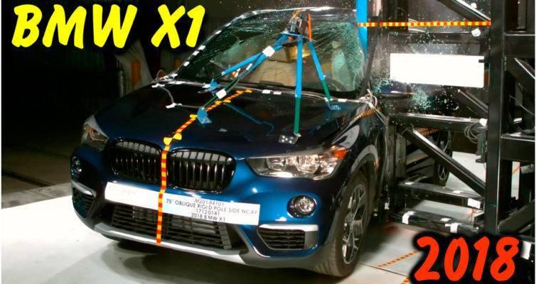 bmw, x1, bmw x1, crash test, bmw x1 crash test, Side Pole, Side Crash Test, car crash test, краш тест, столкновения автомобиля, безопасности водителя, Euro NCAP, боковое столкновение, боковой краш тест, тест автомобиля, 2018 BMW X1, car crash 2018