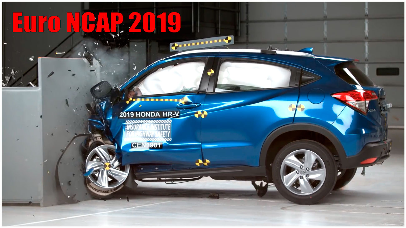 nissan armada, 2019 Subaru Forester, 2019 Jeep Cherokee, sierra 2500hd, frontal crash test, 2019 BMW X5, driver side, 2019 Honda HR-V, crash test, HR-V, краш тест, Euro NCAP