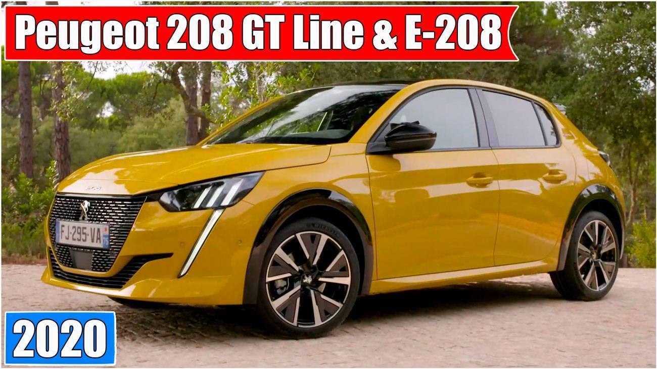 Обзор Peugeot 208 GT Line & E-208 новинки 2020 года